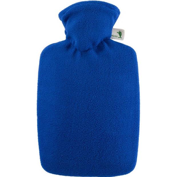 Fleece kruik blauw 1,8 liter met hoes - warmwaterkruik