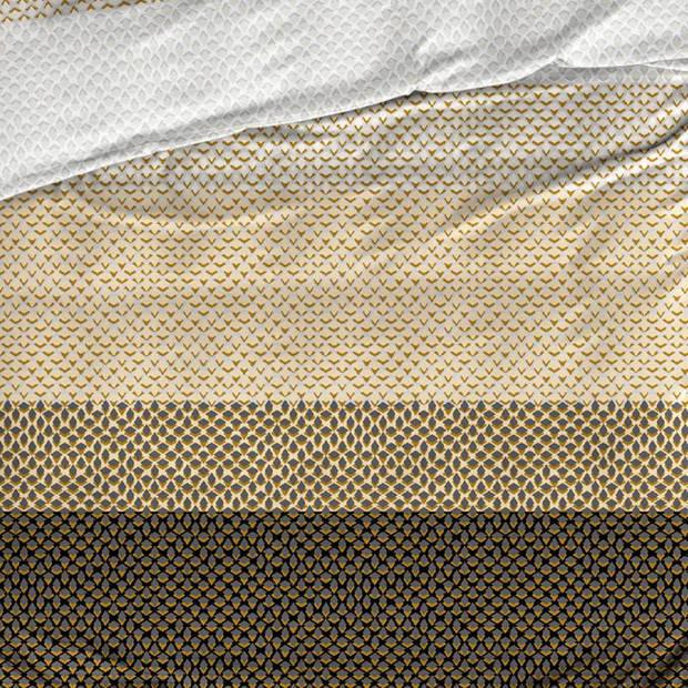 Satin D'or Satin d'Or Ibisco dekbedovertrek - 2-persoons (200x200/220 cm + 2 slopen) - Katoen satijn - Beige/Bruin