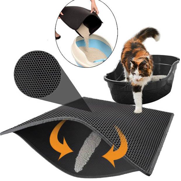 Kattenbakmat - Musthave voor elke kattenbezitter - 46 x 60 cm