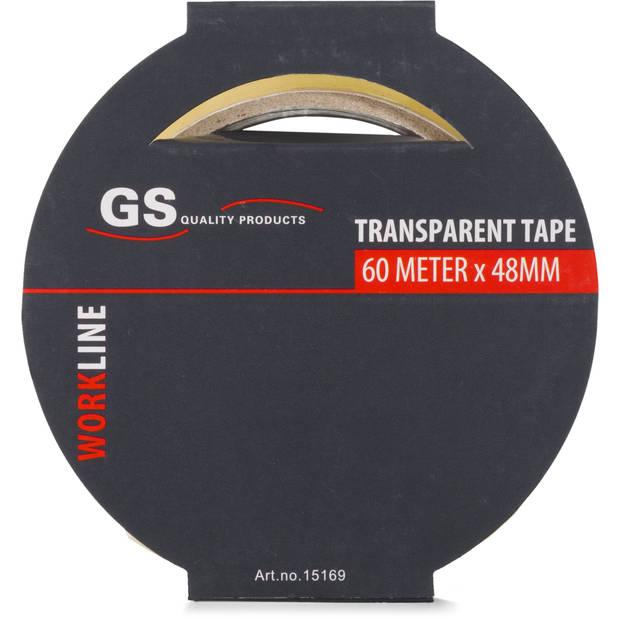 Transparante verpakkingstape, 60 meter x 48 millimeter