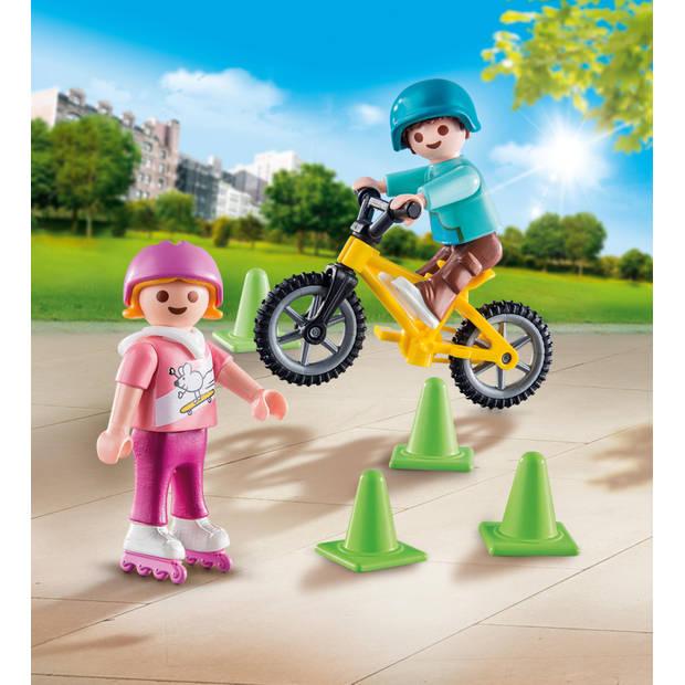 PLAYMOBIL Special Plus kinderen met fiets en skates 70061