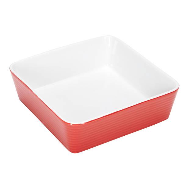 Blokker Rhodos ovenschaal - rood - 16,5x16,5x4,8 cm