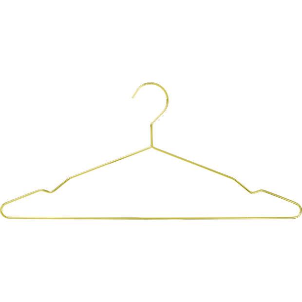 Blokker kledinghanger metaal, set van 5 stuks, goud