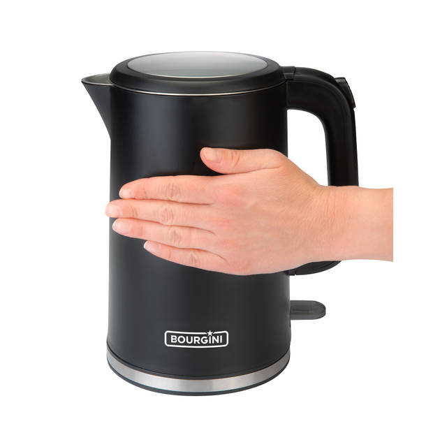 Bourgini waterkoker Cool Touch - 1,7 liter