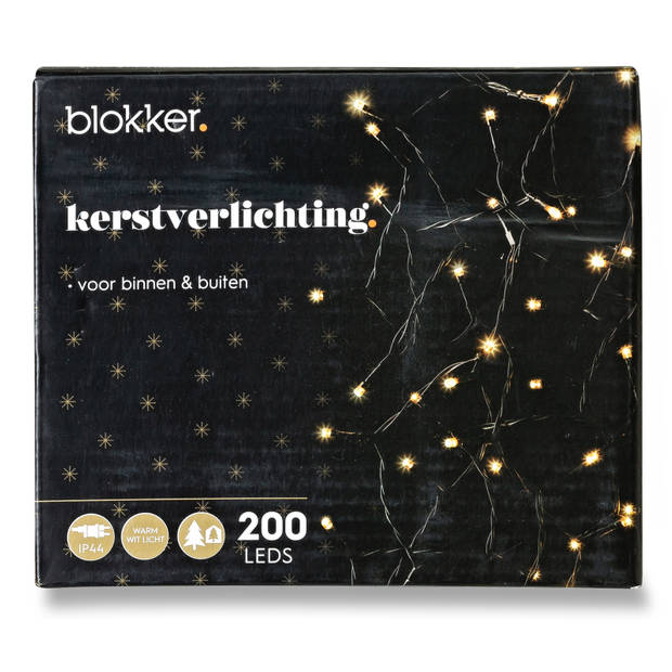 Blokker Kerstverlichting 200 LED warm wit - 18 meter