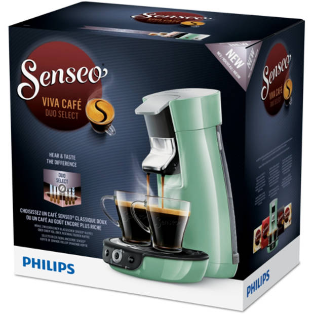 Philips SENSEO® Viva Café Duo Select koffiepadmachine HD6564/10 - groen