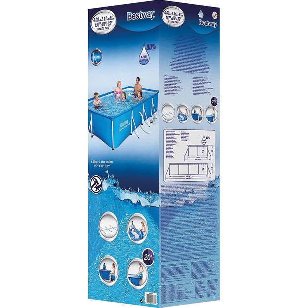 Bestway Steel Pro zwembad + filterpomp 400 x 211 x 81 cm