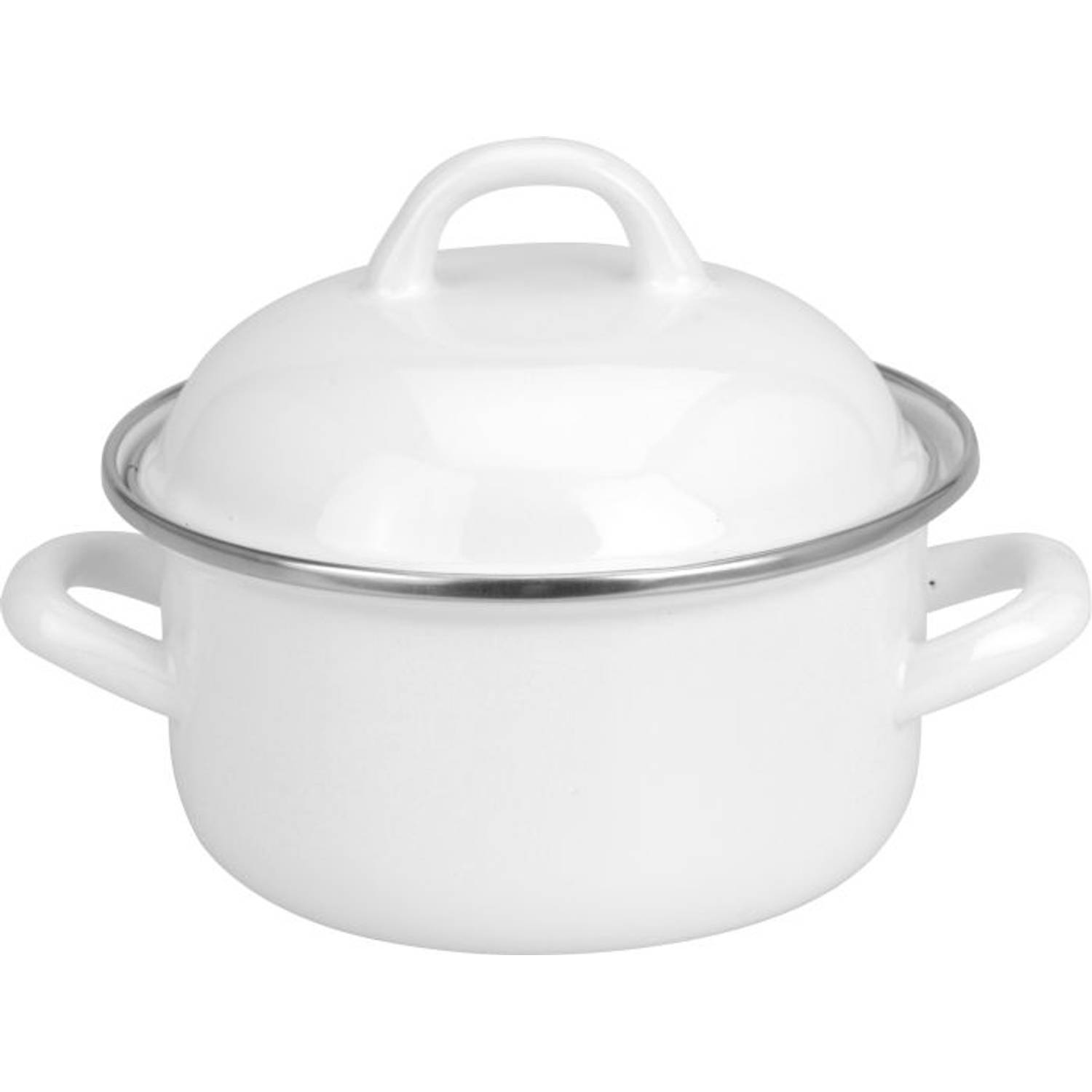 Korting Pan Emaille Wit 14 Cm