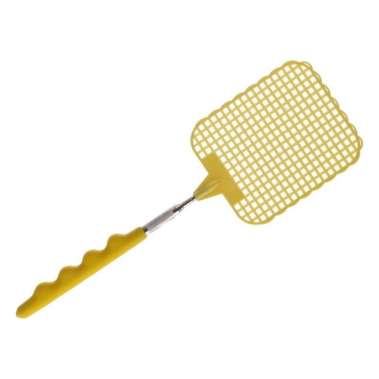 Korting Uitschuifbare Vliegenmepper Geel 60 Cm