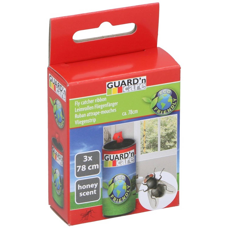 Korting 3x Vliegenvanger Plakstrips Met Honing 78 Cm Insectenbestrijding Vliegenstrips insectenstrips