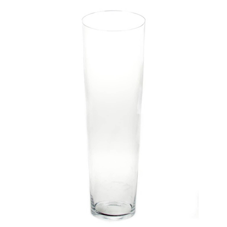 Conische Vaas Glas 70 Cm Glazen Bloemenvaas Taps Decoratieve Vazen Blokker