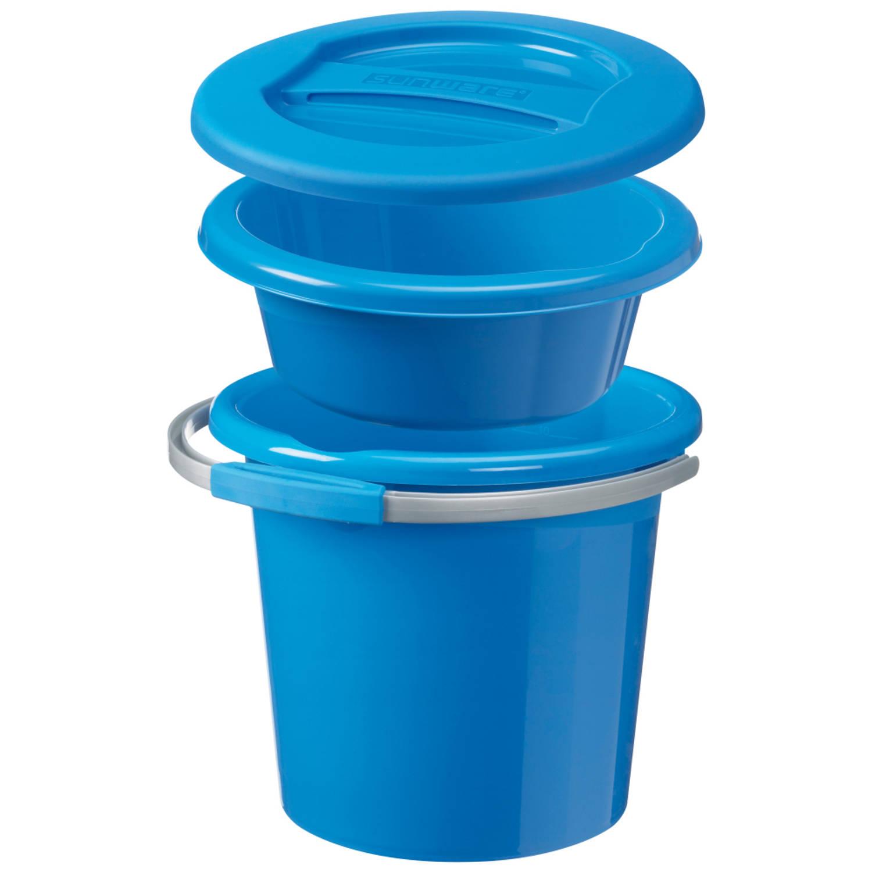 Korting Water line Schoonmaak set klein 5L en 12L blauw