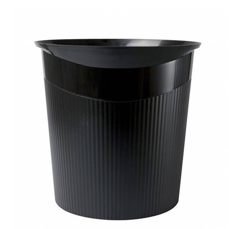 Zwarte Vuilnisbak/prullenbak 13 Liter - Vuilnisemmers/vuilnisbakken/prullenbakken