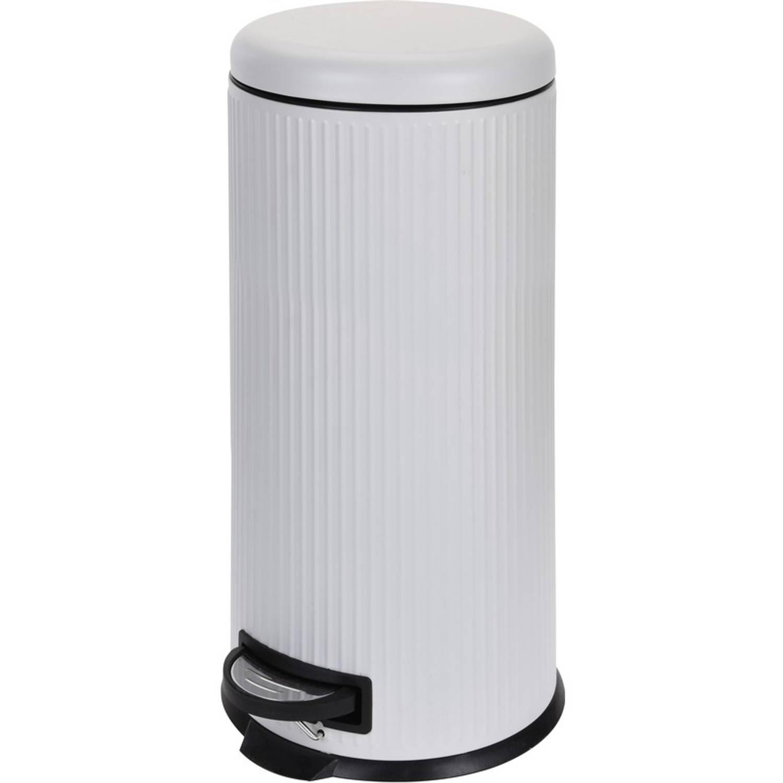 Witte Vuilnisbak/pedaalemmer 30 Liter - Vuilnisemmers/vuilnisbakken/pedaalemmers/prullenbakken