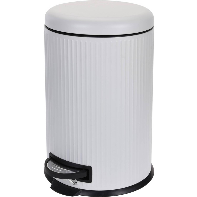 Witte Vuilnisbak/pedaalemmer 20 Liter - Vuilnisemmers/vuilnisbakken/pedaalemmers/prullenbakken