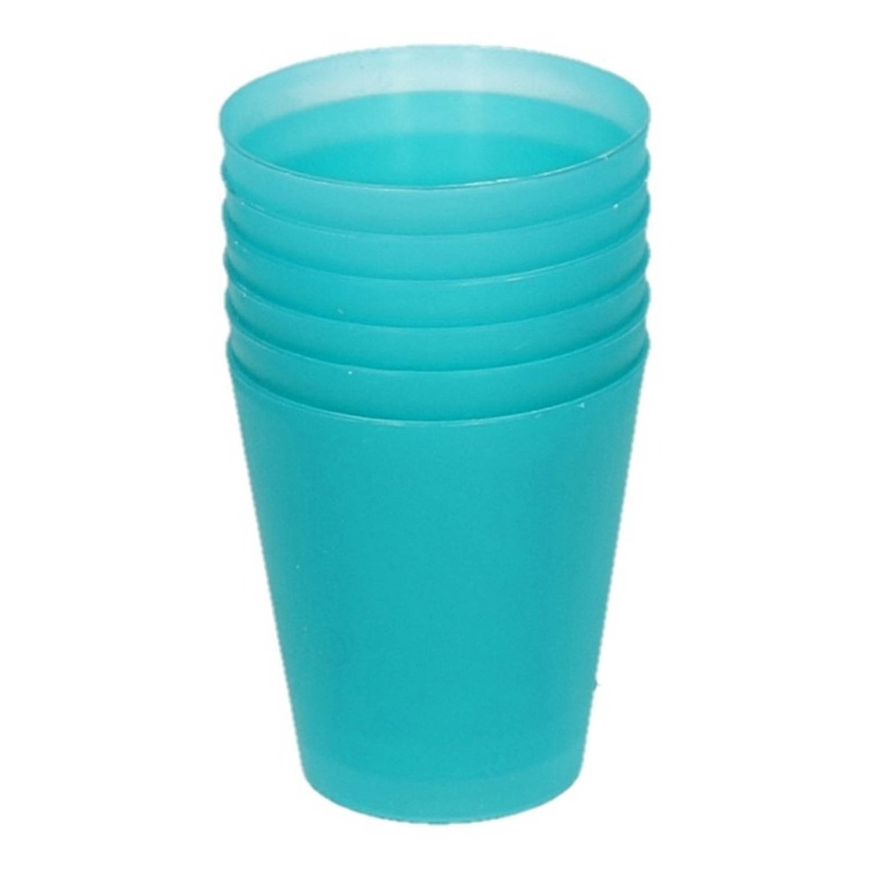 Korting Turquoise Kinder Limonade Drinkbekers 100 Ml 6 Stuks