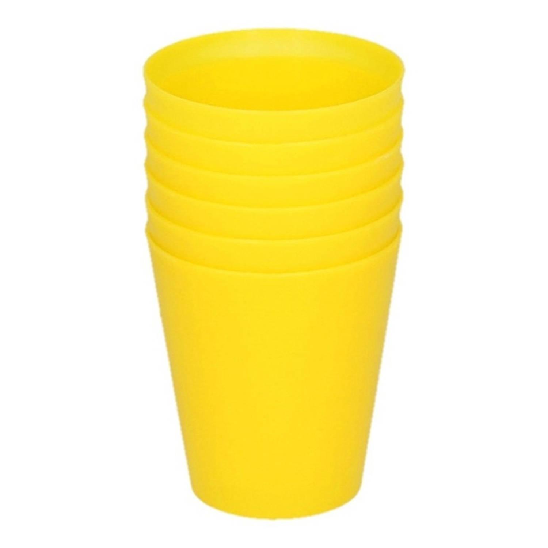 Korting Gele Kinder Limonade Drinkbekers 100 Ml 6 Stuks