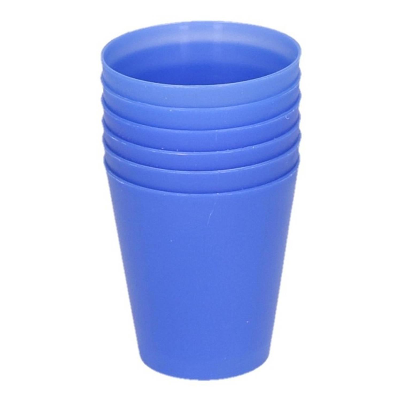 Korting Blauwe Kinder Limonade Drinkbekers 100 Ml 6 Stuks