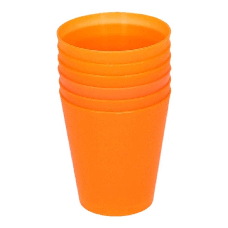 Korting Oranje Kinder Limonade Drinkbekers 100 Ml 6 Stuks