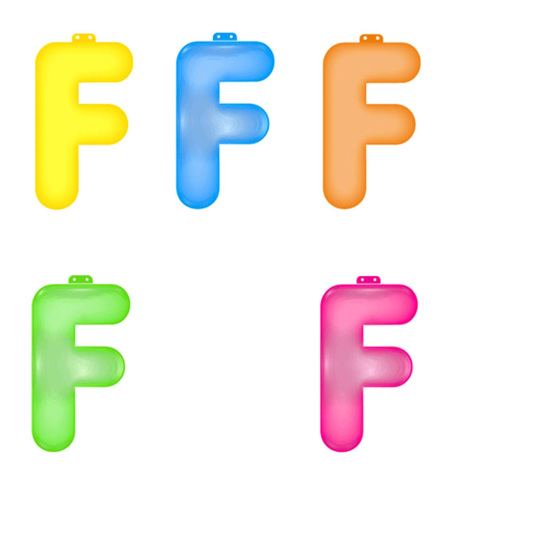 Korting Opblaas Letter F Roze