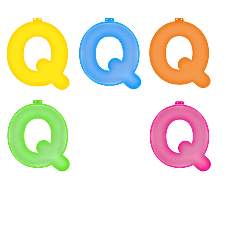Korting Opblaas Letter Q Roze