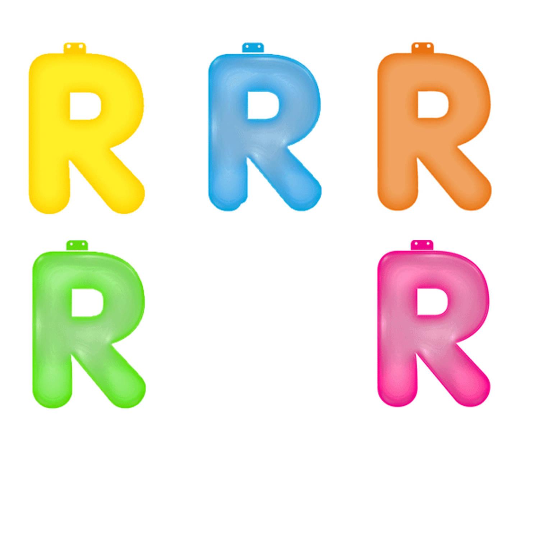 Korting Opblaas Letter R Roze