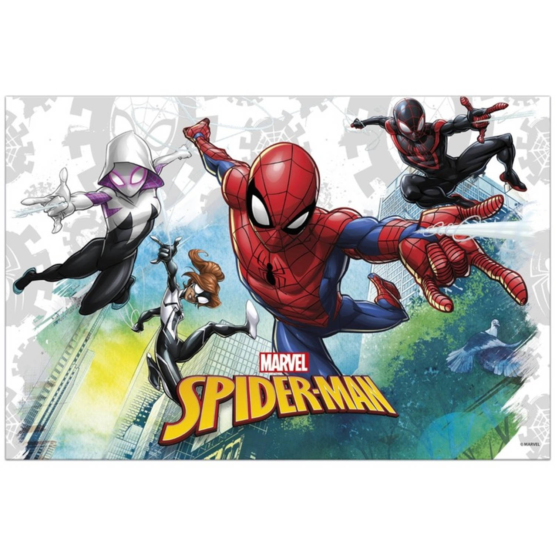 Image of Marvel Spiderman Themafeest Tafelkleed/tafelzeil 120 X 180 Cm - Kinderfeestje Kunststof/plastic Tafeldecoraties