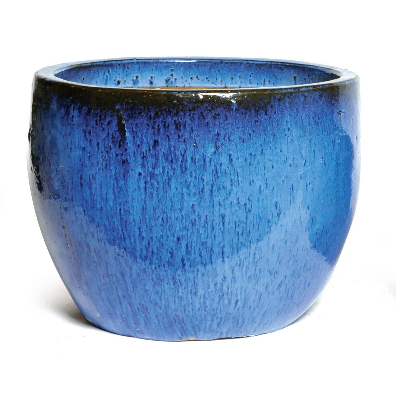 Bloembak Pot Egg D50 Cm H40 Cm Blauw Mcollections