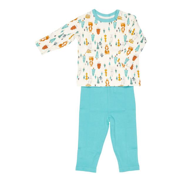 Blokker baby pyjama 2 delig blauw mt. 68