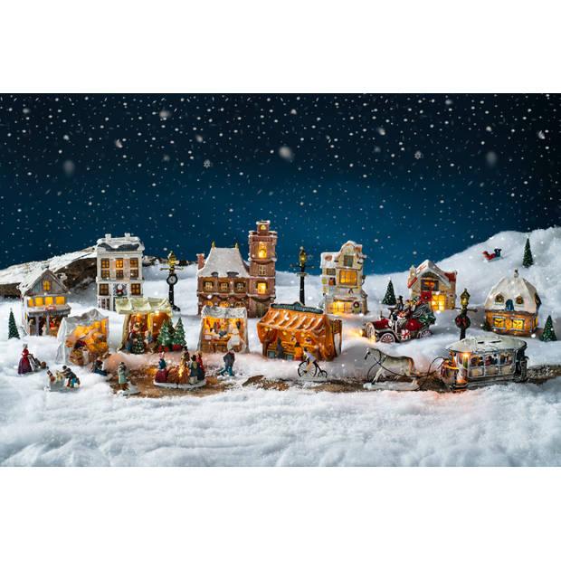 Blokker Anton Pieck kersthuisje - Hollandsche Gebakkraam