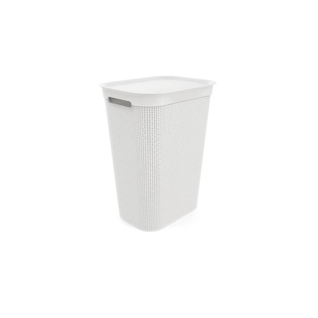 Blokker wasbox - 50 liter - met afneembaar klapdeksel - wit