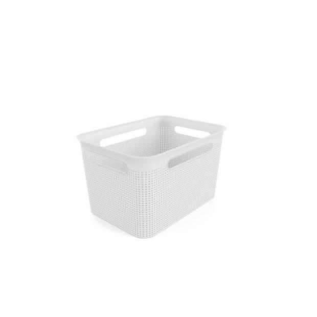 Opbergmandje - L 16 liter - wit