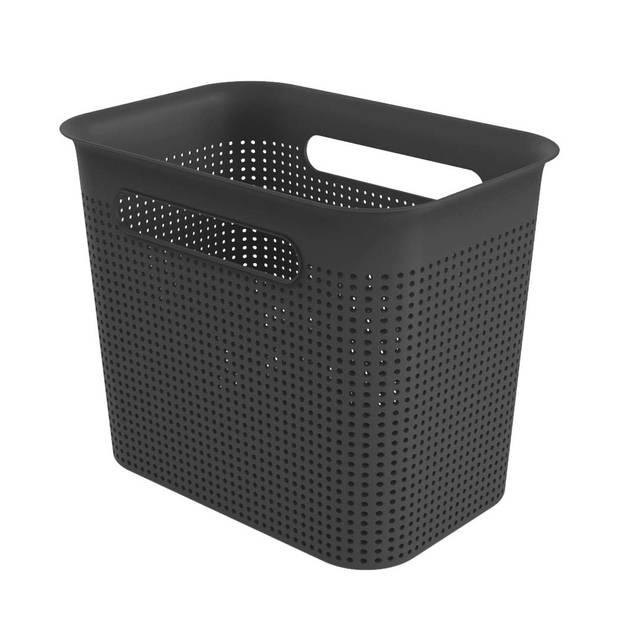 Opbergmandje - M 7 liter - zwart