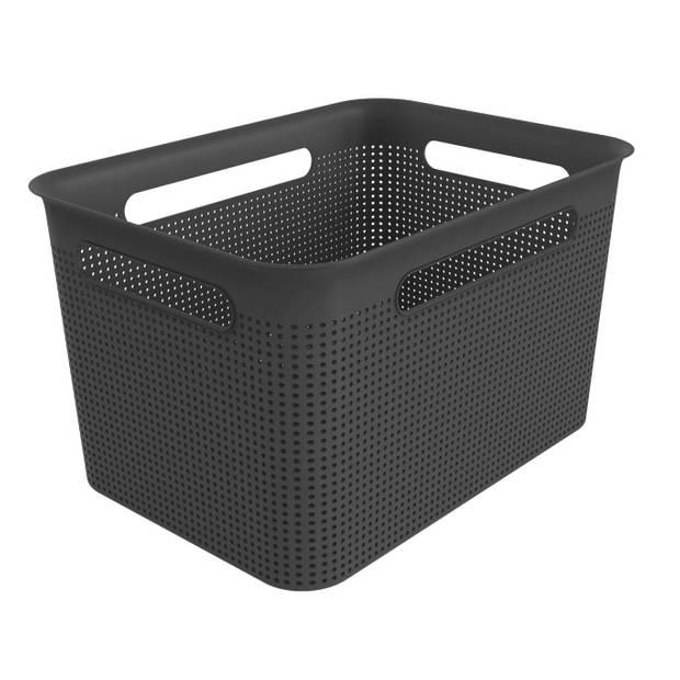 Opbergmandje - L 16 liter - zwart