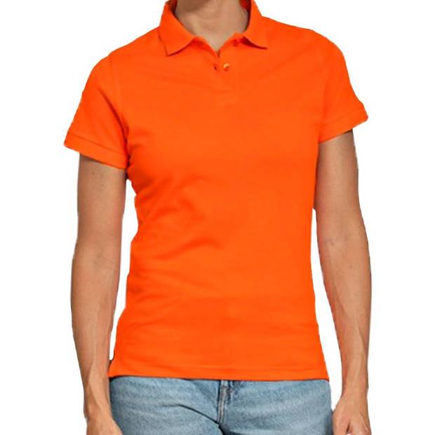 Holland poloshirt / polo t-shirt oranje voor dames - Koningsdag kleding/ shirts S