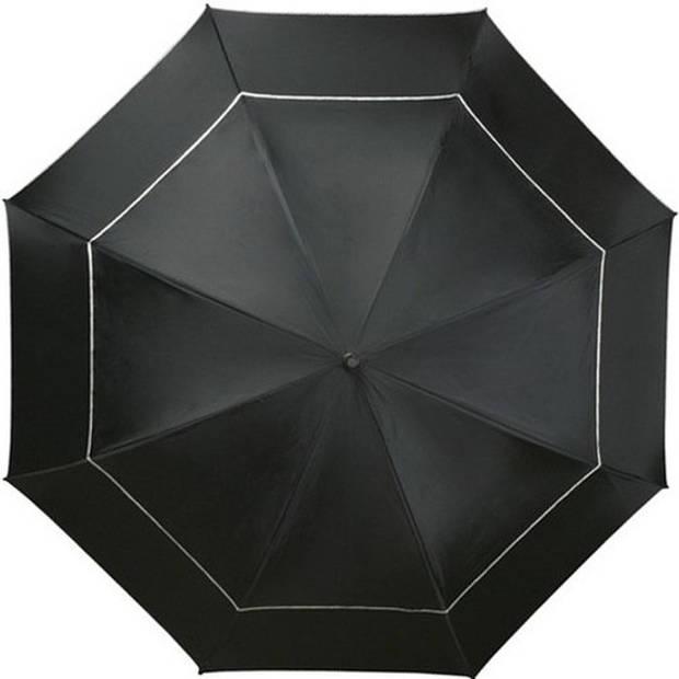 Golf stormparaplu zwart windproof 140 cm