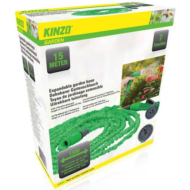 Flexibele/uitrekbare tuinslang 5-15 meter - Tuingereedschap stretch tuinslangen