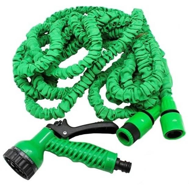 Flexibele/uitrekbare tuinslang 10 meter - Tuingereedschap stretch tuinslangen
