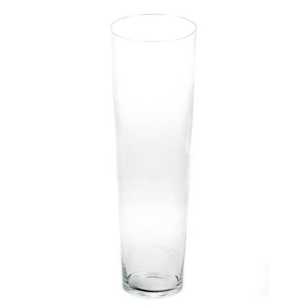 Conische vaas glas 60 cm - Glazen bloemenvaas taps - Decoratieve vazen