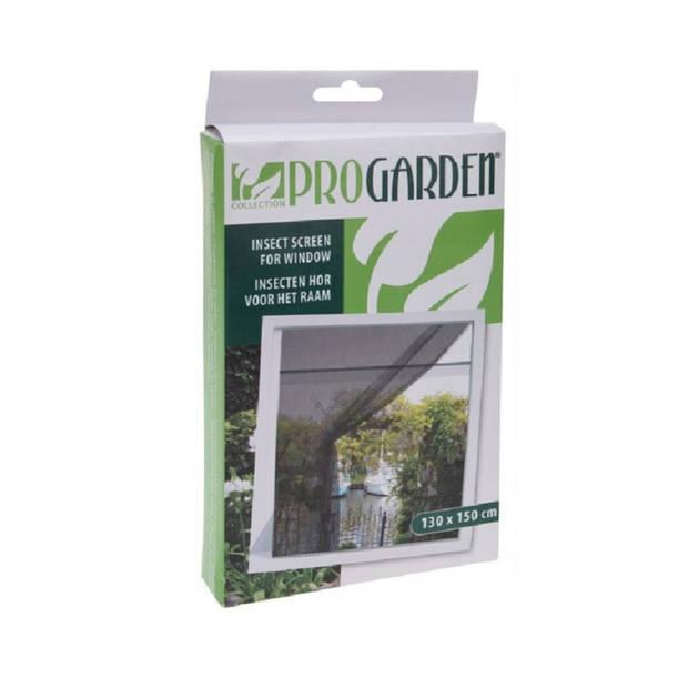 Insecten hor zwart 130 x 150 cm - Zelklevende raam horren/horgordijn - Opzethor voor het raam