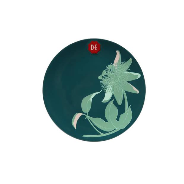 Douwe Egberts Passie bordje - Ø20,5cm - donkergroen