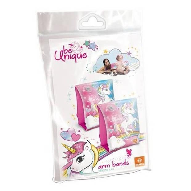 Mondo eenhoorn-zwemvleugels roze 19 cm