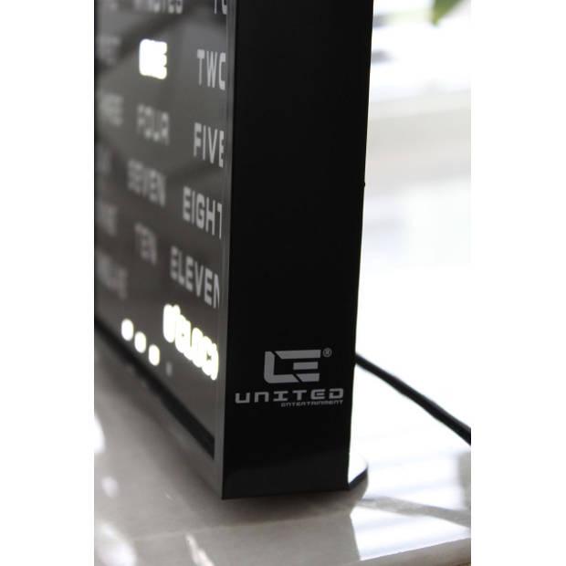 United Entertainment LED Word Clock - Engels 17x16,5 cm
