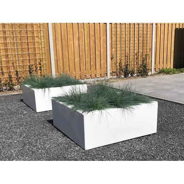 Enjoyplanters Enjoyplanter Polyester plantenbak Smooth 100x100x40 cm Wit