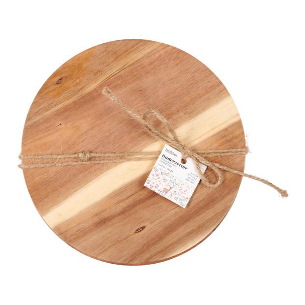 Blokker pannenonderzetters acacia hout - 2 stuks