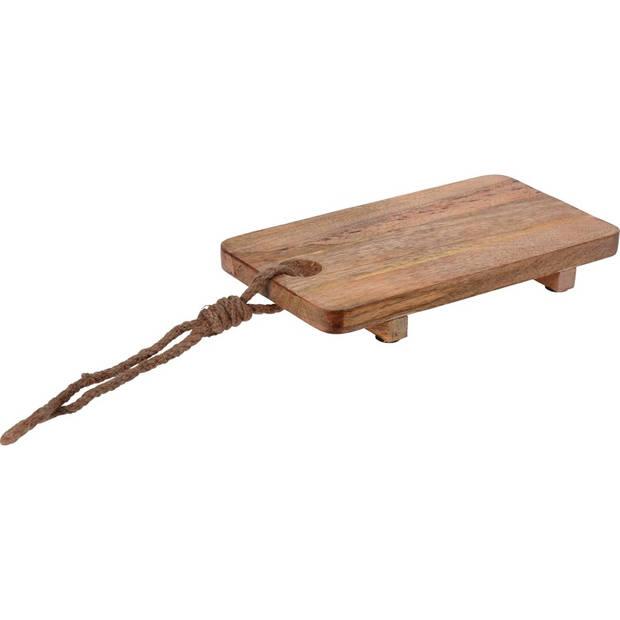 Robuuste mango houten snijplank 30 cm - Snijplanken/serveerplanken/broodplanken van hout