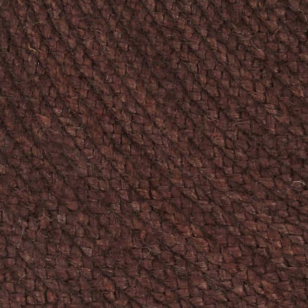 vidaXL Vloerkleed handgemaakt rond 150 cm jute bruin