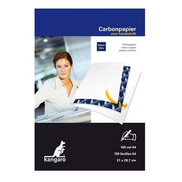 100x Carbonpapier/transferpapier/overtrekpapier blauw A4 - Blauwe overtrekvellen - Hobbymateriaal