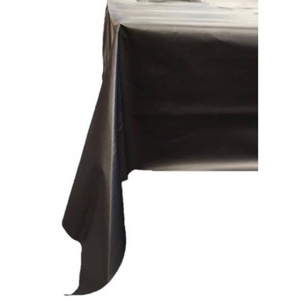 Zwart tafellaken/tafelkleed 138 x 220 cm herbruikbaar