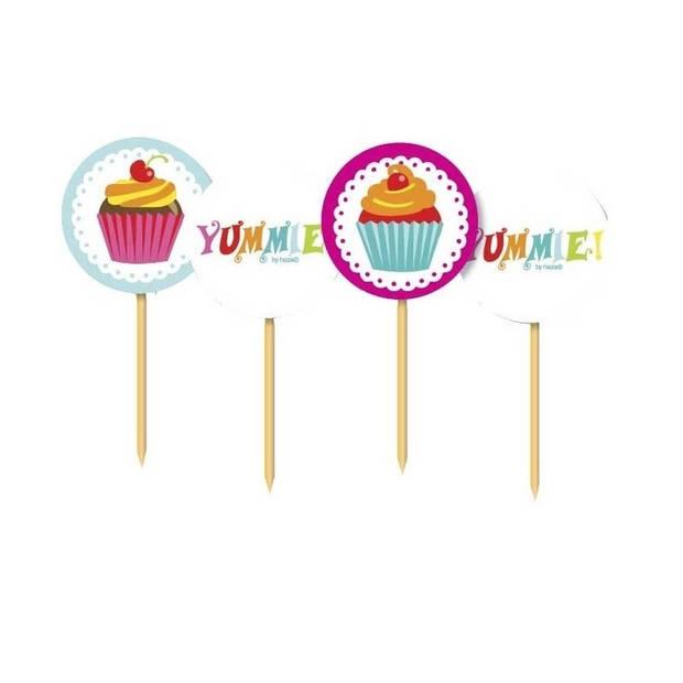 Cupcake thema cocktailprikkers 20 stuks